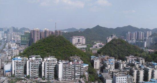 Guiyang, الصين: View from floor 29 of Guiyang Pullman Hotel - awesome!