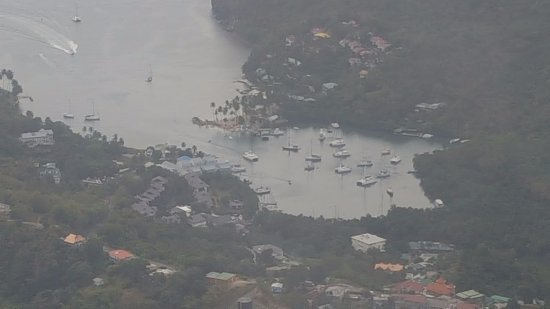 Gros Islet, St. Lucia: Bay area view