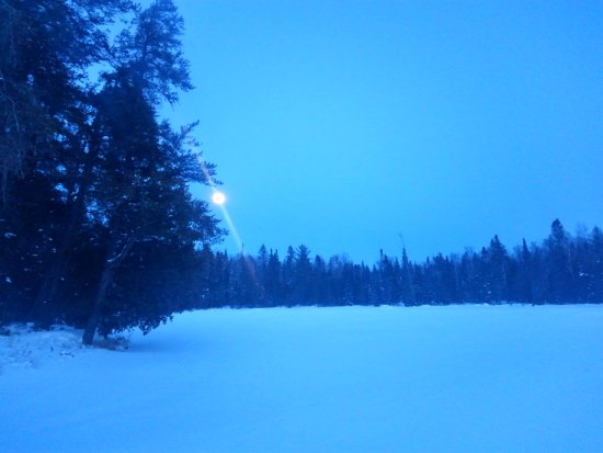 Ely, MN: Moonlight over the lake