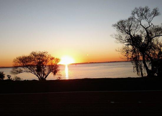 Guaiba Lake (River): sunset on the Lake Guaiba.