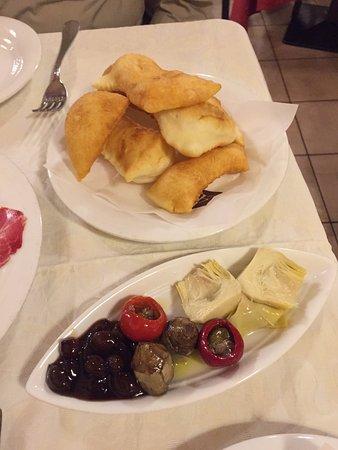 Al Duca: Gnocco fritto and assorted pickles
