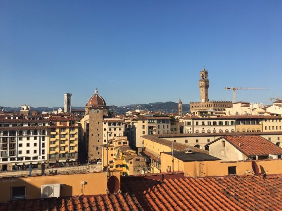Pitti Palace al Ponte Vecchio: View from the roof terrace