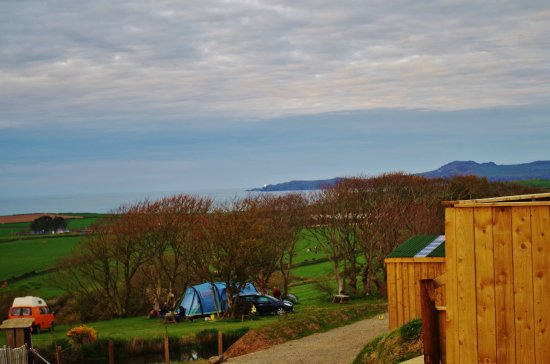 Llanrhian, UK: Campsite view from our tent.