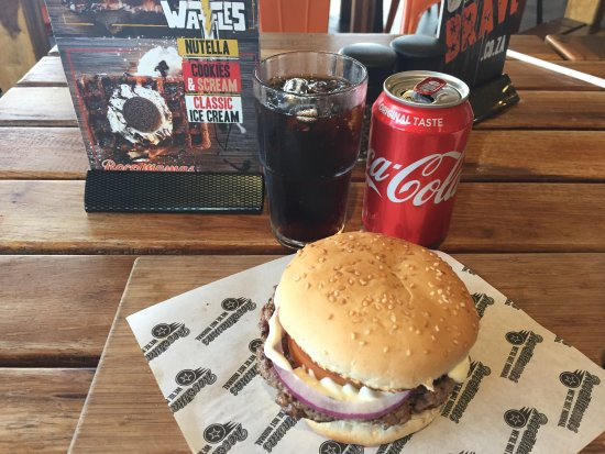 Randburg, Sydafrika: Burger & Coke