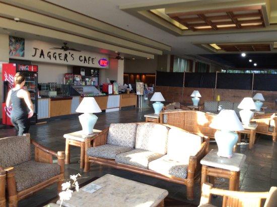 Aqua Skyline at Island Colony: Jaggers cafe , quite handy