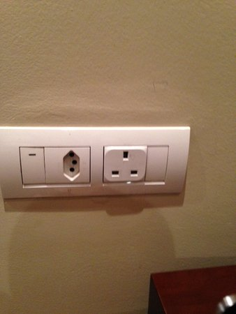 Kempton Park, África do Sul: UK wall socket
