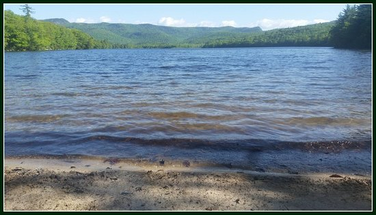 East Stoneham, ME: Virginia Lake is just a short hike from our mountain top