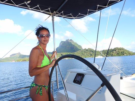 Le Marin, Martinica: prova timone...un pò velista lo sono. :-)