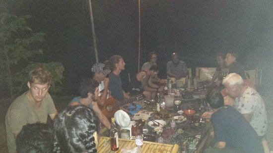 Ao Luek, Thailand: We ate together under the stars