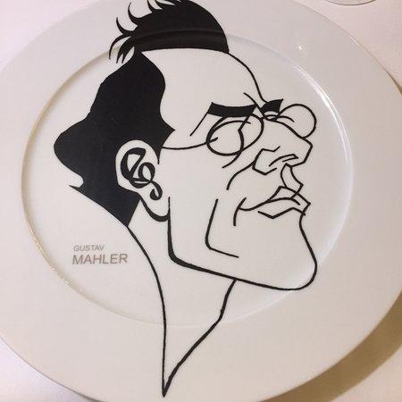 b5e5477ec44 Aria Hotel Prague by Library Hotel Collection  Gustav Mahler dinner plate  by Joseph Blecha