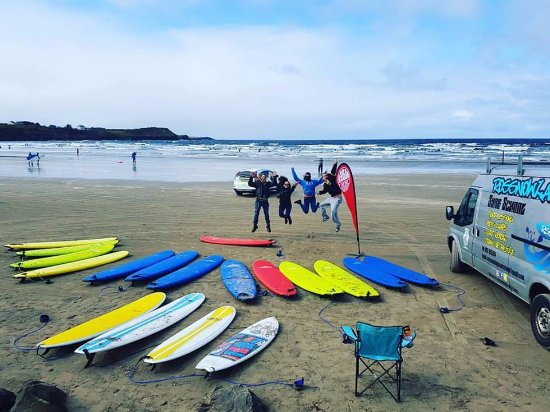 The Beach Set-up, Rentals & Lessons @ Rossnowlagh beach ... Less time messing around = More Surf