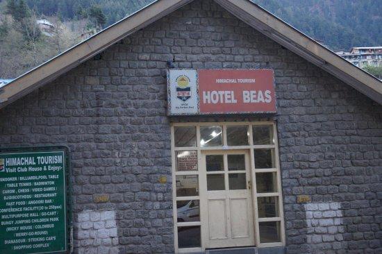 Hotel Beas (HPTDC): Hotel Beas Sign Board.
