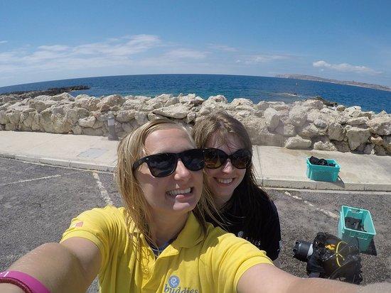 Bugibba, Malta: our dive buddies