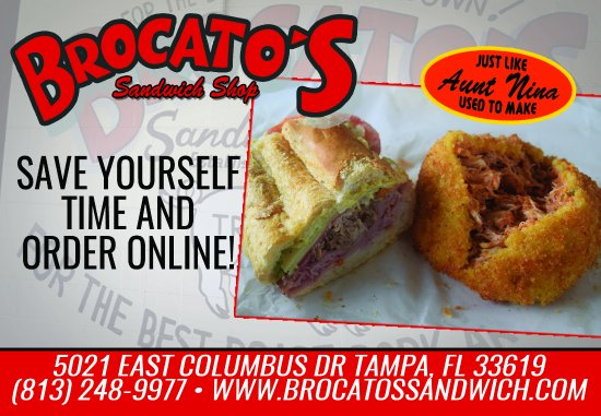 Photo of American Restaurant Brocato's Sandwich Shop at 5021 E Columbus Dr, Tampa, FL 33619, United States