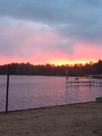 Lac du Flambeau, WI: Early autumn sunset. Goregous.