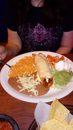 Chicken Chimichanga With Fixins Picture Of El Saltillo Biloxi