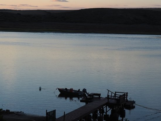 Witsand, Sydafrika: uitzicht op de mudlark river