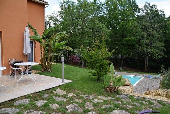 Saint-Andre-d'Allas, France: Terrasse