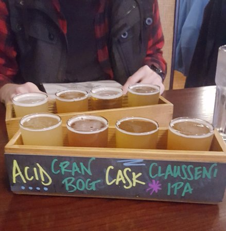 Haverhill, MA: Flight of sour beers
