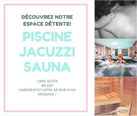 Hôtel L'Albatros : Piscine/Jacuzzi/Sauna