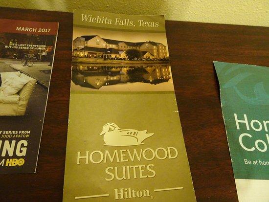 Wichita Falls, TX: brochure in room
