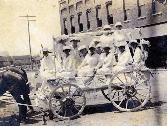 Oriental, NC: 1919 May Day Parade, Pickle Hall in the background