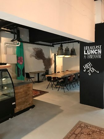 Almere, Pays-Bas : De Kleine Lunchfabriek Balie