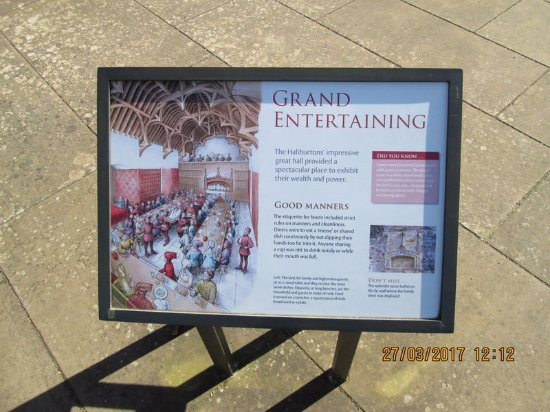 Dirleton, UK: how they entertained