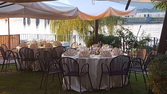 Province of Perugia, İtalya: Il ristorante si affaccia sul Lago Trasimeno