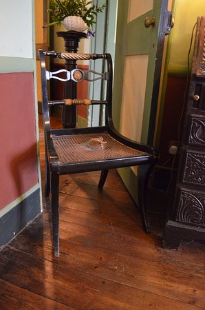 Exmouth, UK: Nelson's desk chair before his final battle?
