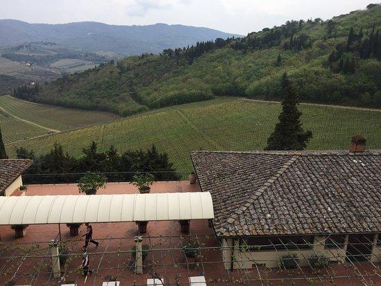 Castello di Verrazzano: beautiful propety and view