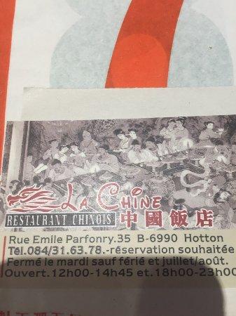 Hotton, Belgien: La Chine