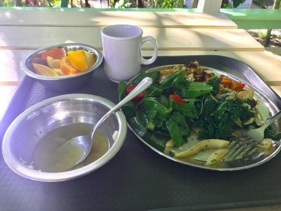 Sivananda Ashram Yoga Retreat: the lunch