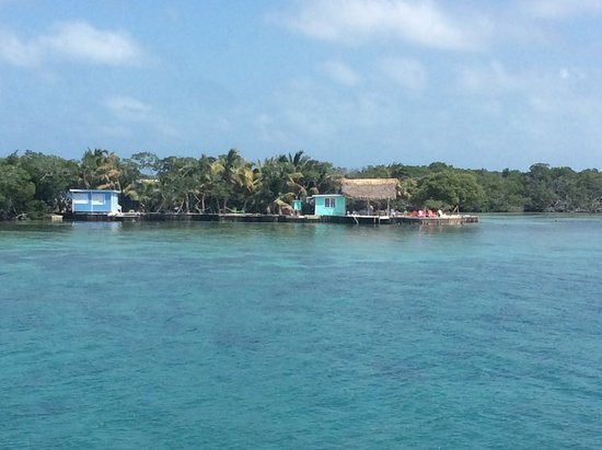Hopkins, Belize: Bread and Butter Caye from Boat