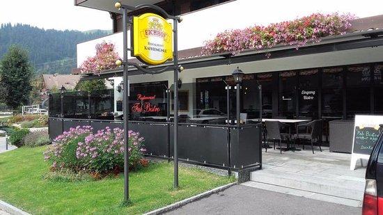 Schonried, Switzerland: Esterno Ristorante. Outdoor Restaurant.