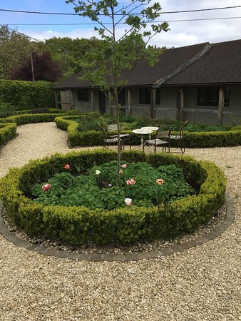Inkpen, UK: View of the courtyard