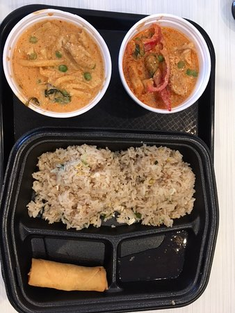 Bryan, TX: Red curry and Panang curry chicken
