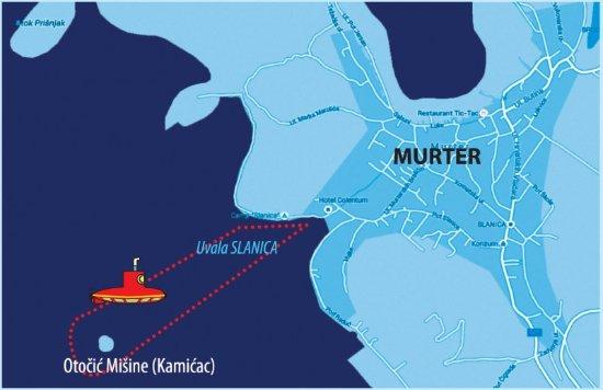 Murter, كرواتيا: Trip route