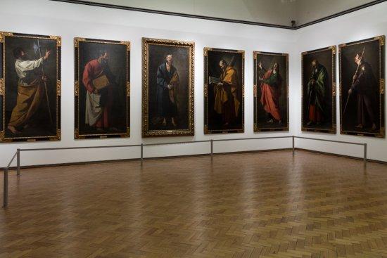 Museu Nacional de Arte Antiga: The painting section with large painting