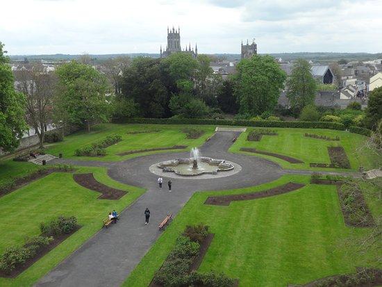 Kilkenny, Ireland: View from an upstairs window.