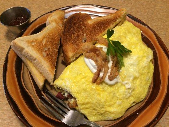 Greenville, MI: Corned Beef Hash Omelet