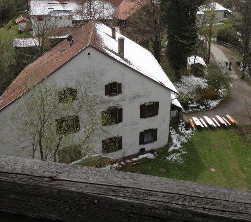 Kaufbeuren, Germany: Cafe Burgstüble vom Römerturm aus gesehen