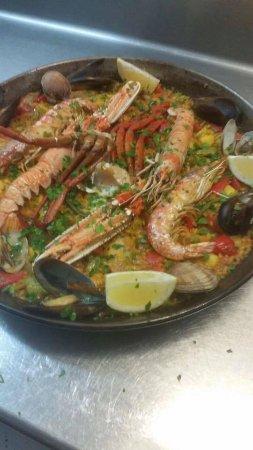 Camarinas, Spain: Paella marinera
