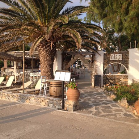 Aegiali, Grecia: Front view of the restaurant