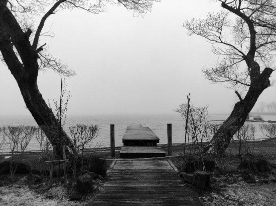 Shinano-machi, Япония: Lake Nojiriko Jetty