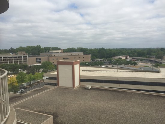 Clayton, MO: View from balcony on 8th floor