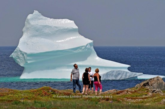 Bonavista, Canada: Iceberg in Trinity Bay