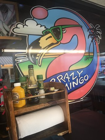 The Crazy flamingo : Super nice staff. Sitting outside in warm weather. What more do you want? Self service food and