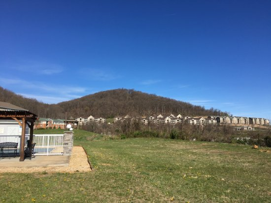 Staunton, VA: View from parking lot, outdoor pool