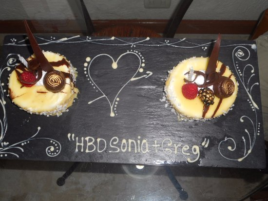 Plaza Pelicanos Grand Beach Resort: Surprise Birthday Cakes for our missed Birthdays